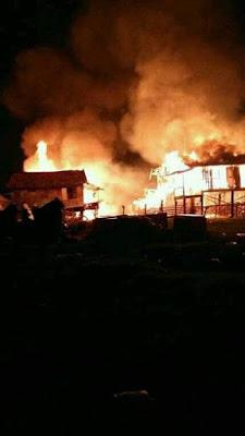Kebakaran Hanguskan 7 Rumah, Satu Warga Tewas