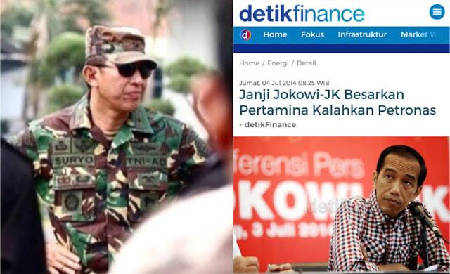 Janji Jokowi-JK Besarkan Pertamina Kalahkan Petronas Dikritik Keras Suryo Prabowo