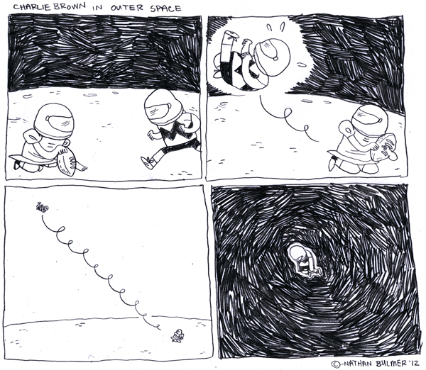 Eat More Bikes: Charlie Brown In Outer Space.