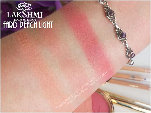 blush fard pesca-fucsia swatches lakshmi makeup vegan ecobio