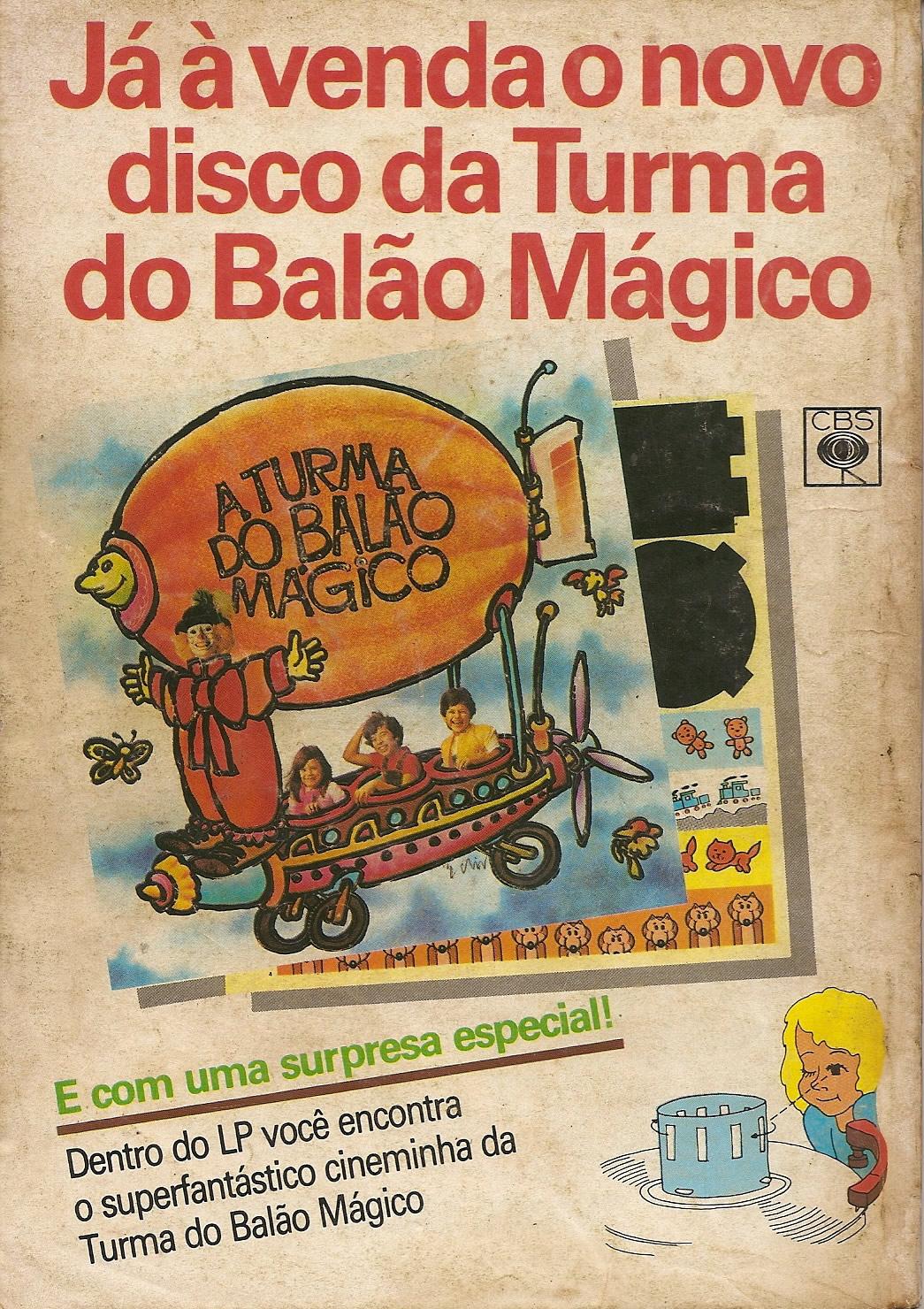 Campanha de lançamento do segundo disco da Turma do Balão Mágico nos anos 80