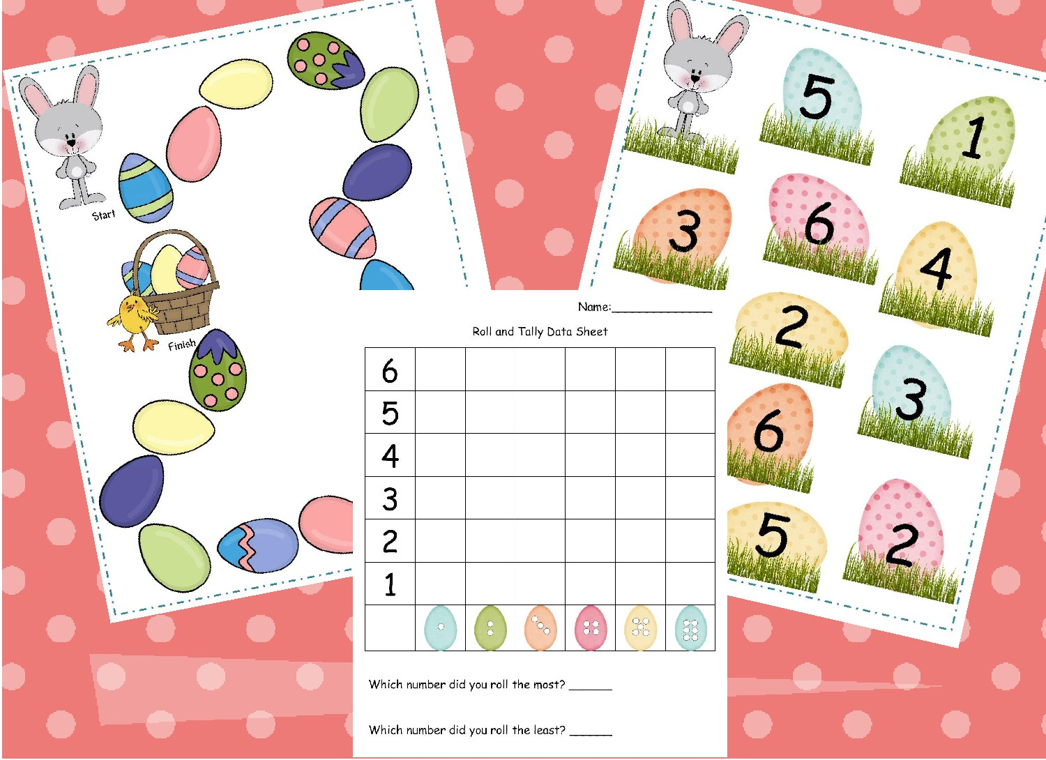 Learning And Teaching With Preschoolers Bunny Dice Game Freebie