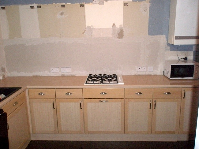 view of Kitchen during redecoration