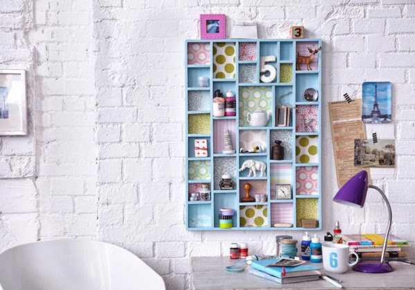 Twelve Inspiring DIY Projects - Printers Tray Display Shelves