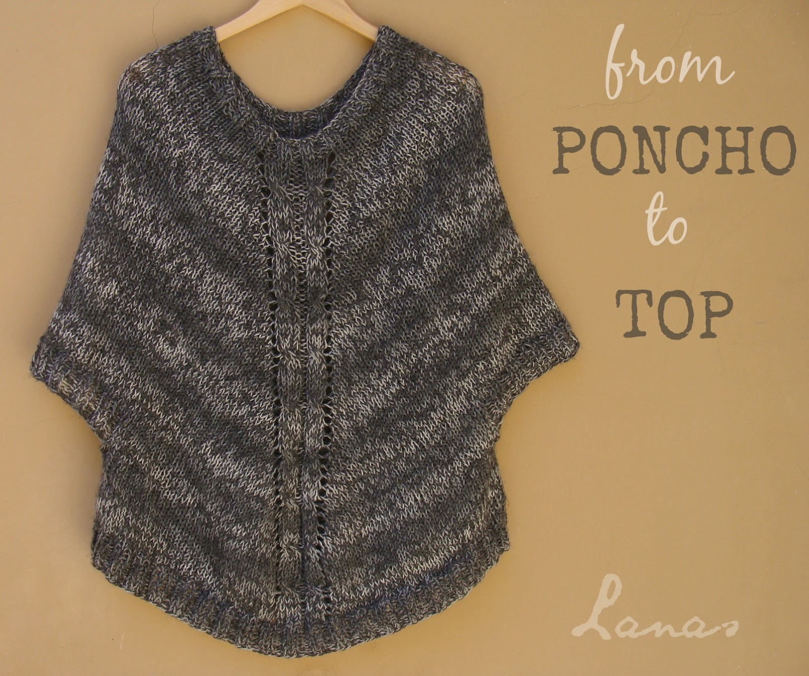 how to make a baby poncho