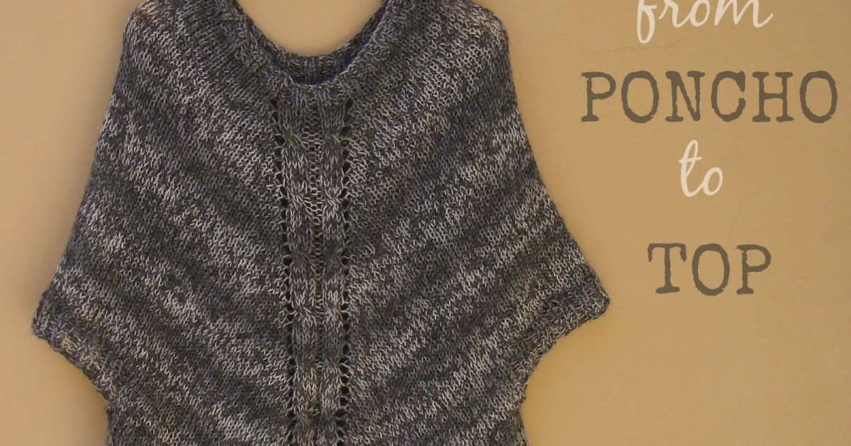 how to make a poncho top