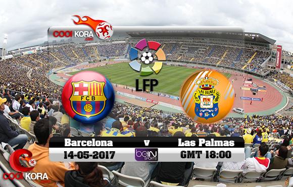 مشاهدة مباراة لاس بالماس وبرشلونة اليوم 14-5-2017 في الدوري الأسباني