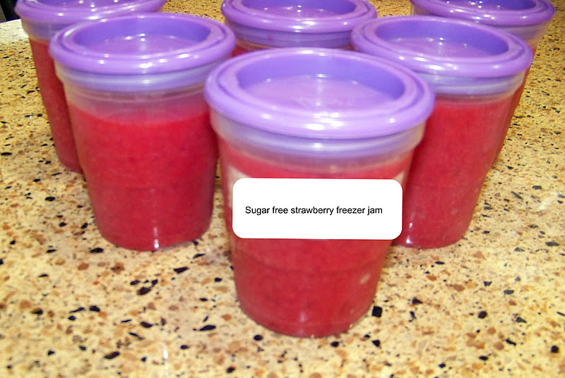 The Naptime Goddess: Strawberry freezer jam    (sugar-free)