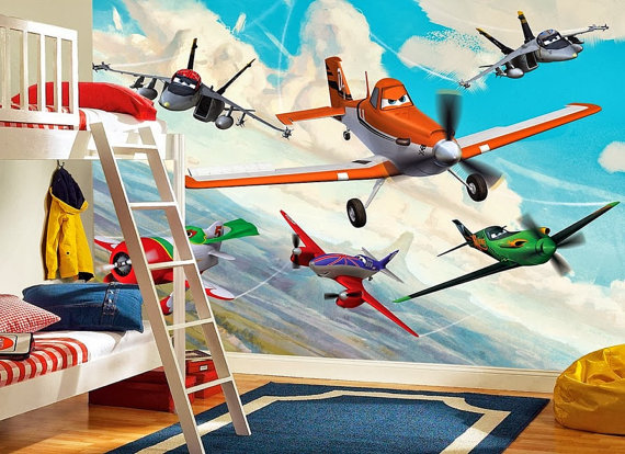 Tapetti Lastenhuoneeseen Disney Lentsikat Valokuvatapetti Lapsia poikien huoneen tapetti lasten tapetti lastenhuone tapetti