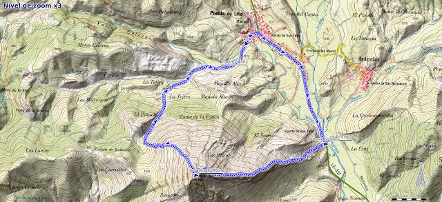 Mapa ruta Susarón