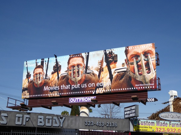 Mad Max Fury Road iTunes movie billboard