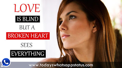 100 Broken Heart Quotes Status for Whatsapp in English