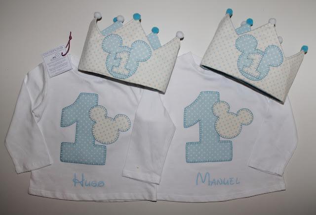 conjuntos cumpleaños 1 año mellizos mickey mouse