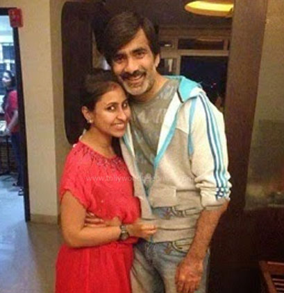 Ravi Teja and his wife: