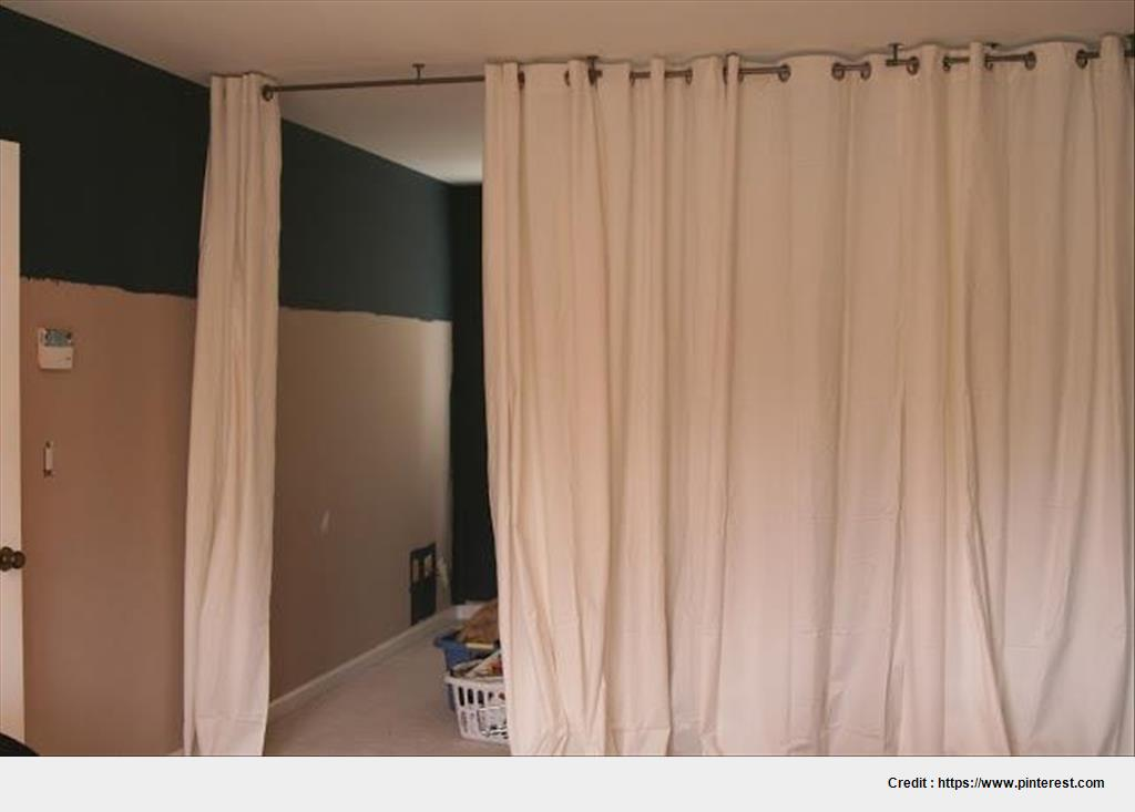 Best room divider curtain rod with post set wallpapers