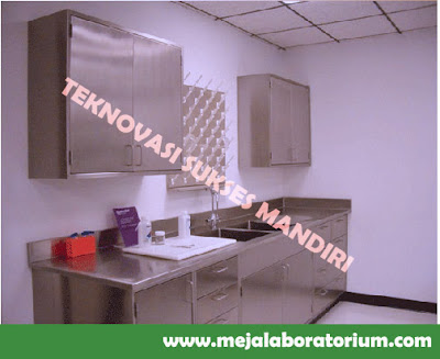 Meja laboratorium stainless steel