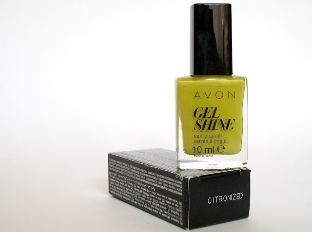 Citronised (Citronized) Avon GEL SHINE nail polish, review by Valentina Chirico