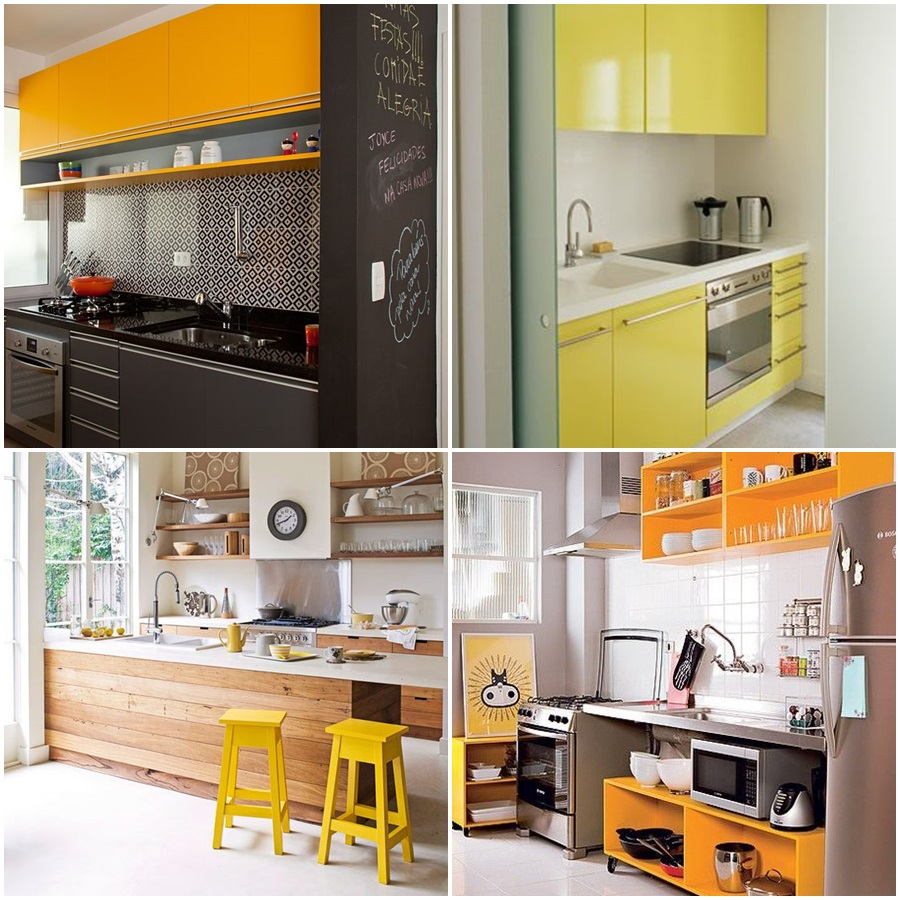Cozinha Com Amarelo Mveis Cozinha Compacta Glamy Marina Madesa