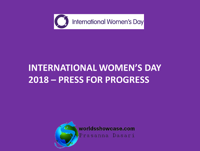 International Women's Day 2018 - Press for Progress