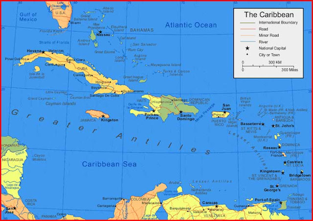 Gambar Peta Kepulauan Karibia