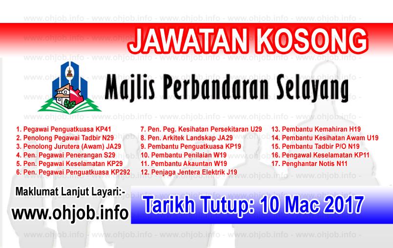 Jawatan Kerja Kosong MPS - Majlis Perbandaran Selayang logo www.ohjob.info mac 2017