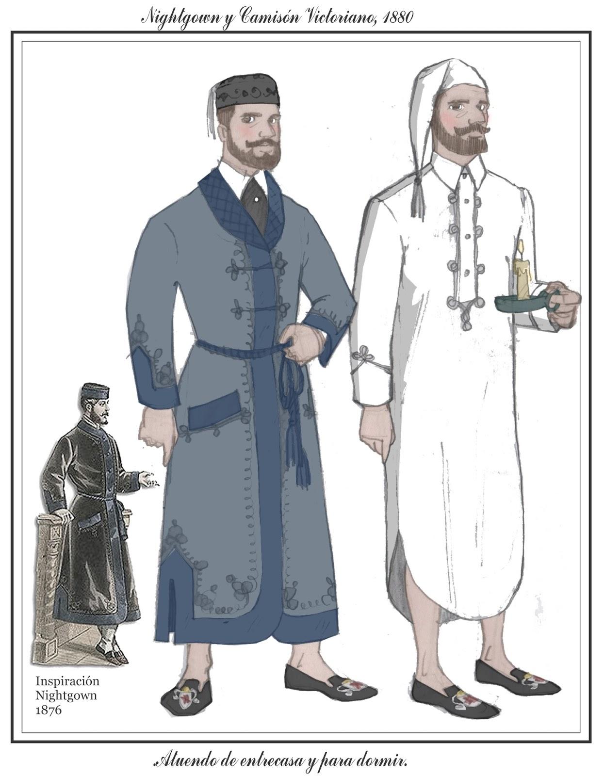 Tras los pasos de Beau Brummell: Camisón, Nightgown y Prince Albert ...