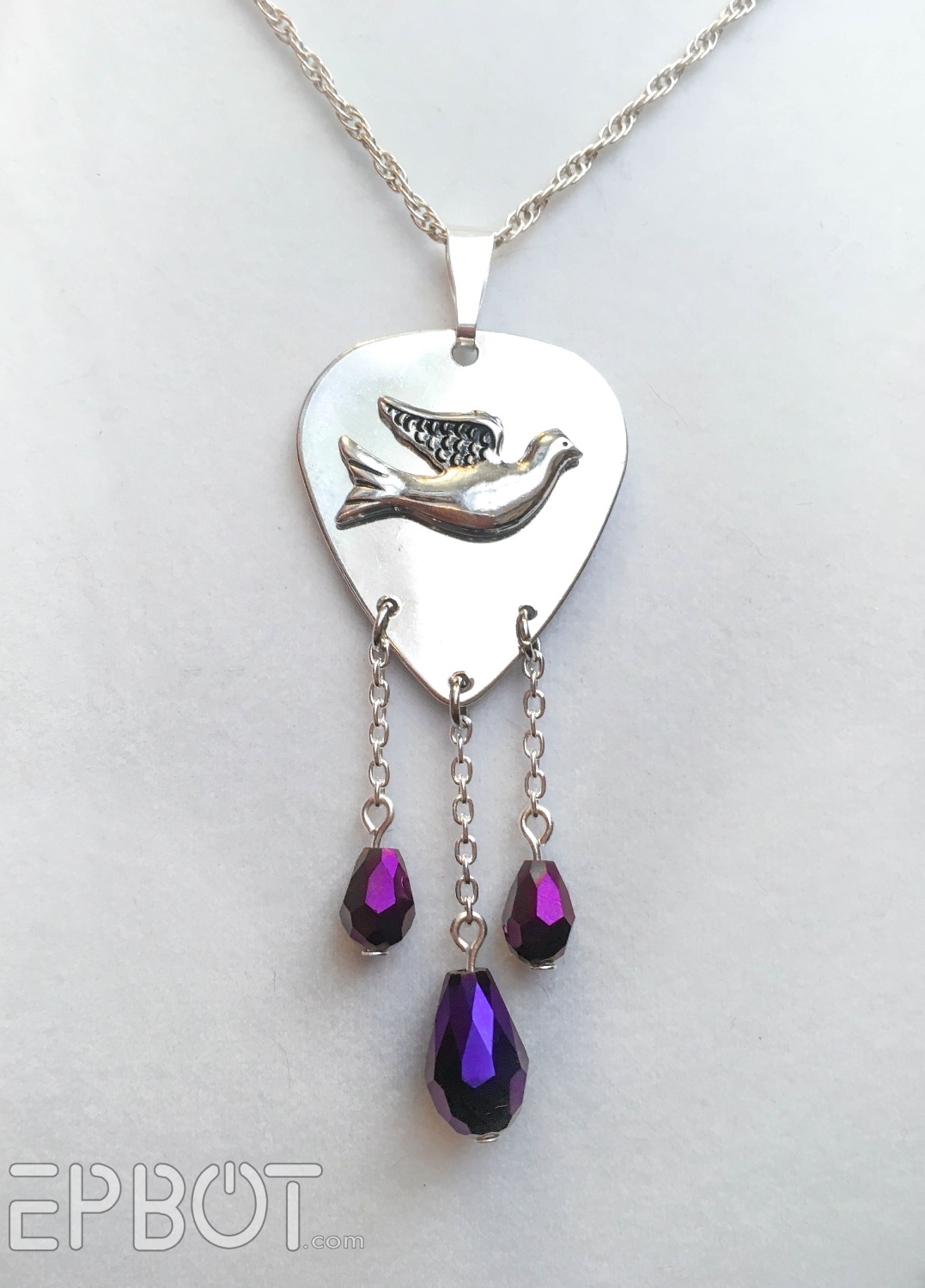 epbot diy prince tribute necklace when doves cry purple