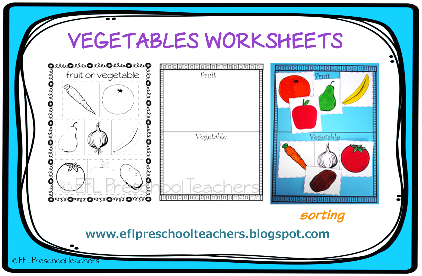 Esl Efl Preschool Teachers Vegetables Activities