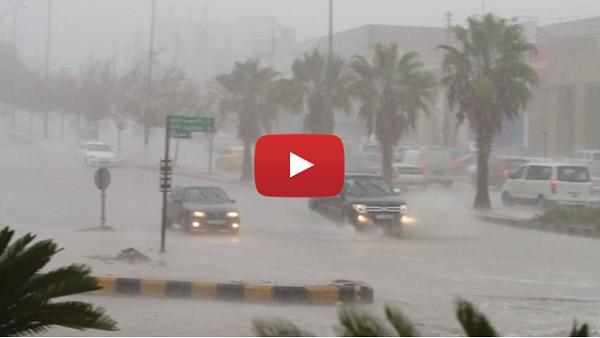 بالفيديو : أمطار رعدية وثلوج على المناطق الغربية