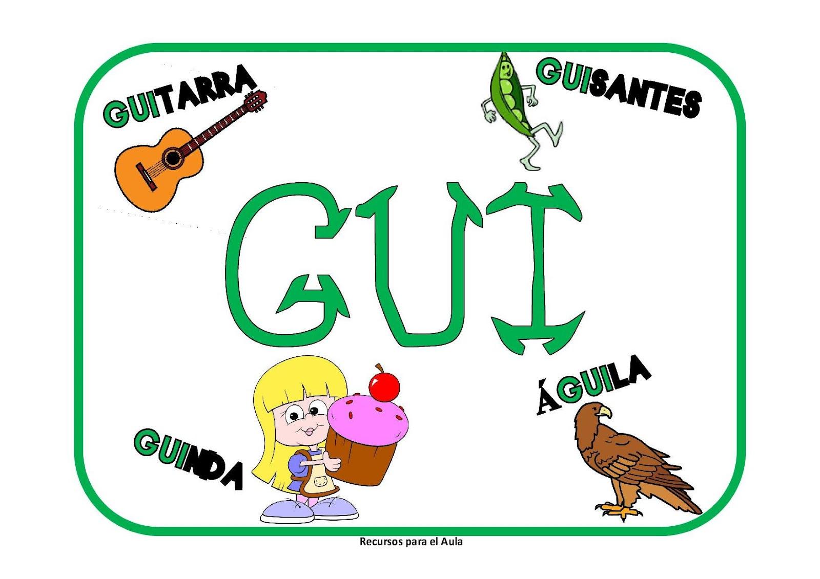 Maestra De Primaria Ga Go Gu Gue Gui Güe Güi