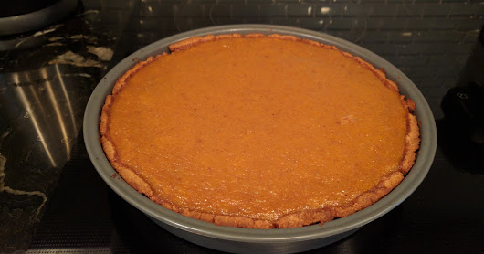 Homemade Pumpkin Pie (using REAL pumpkin!)