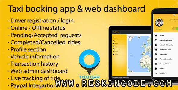 Taxy Booking Apps Android Codecanyon
