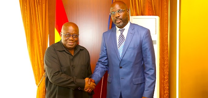 President Akufo-Addo To Attend President-Elect George Weah's Inauguration