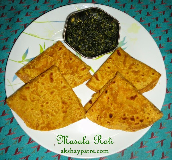masala roti in serving plate