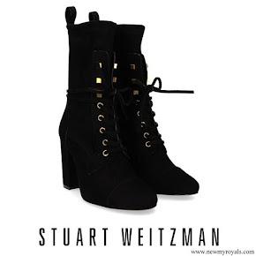 Meghan Markle wore Stuart Weitzman Veruka Suede Boot