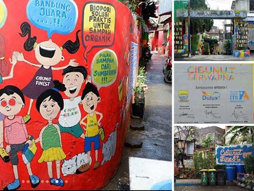 Kampung wisata Cibunut Berwarna Kota Bandung