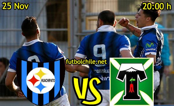 Ver stream hd youtube facebook movil android ios iphone table ipad windows mac linux resultado en vivo, online: Huachipaton vs Deportes Temuco
