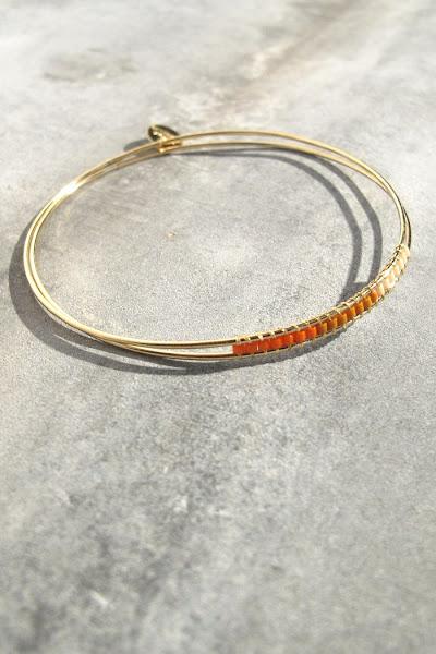 Bracelet Maya corail Tassia Canellis