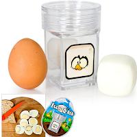 Egg Q-Ber : une petite boîte qui transforme vos oeufs ronds en oeufs carrés !
