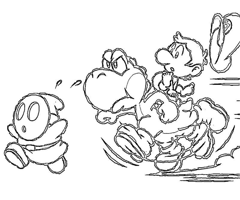 Mario And Yoshi Coloring Pages Free Printable Yoshi Coloring Pages