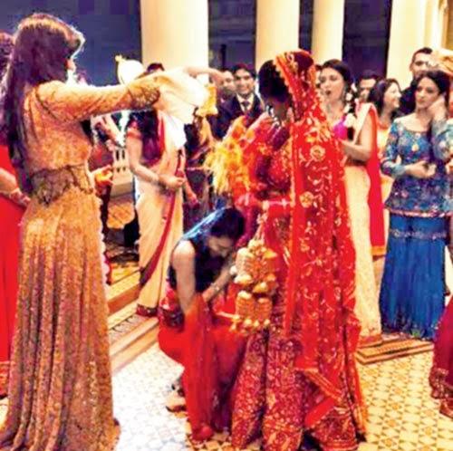 Arpita and Katrina during Kaleera ritual