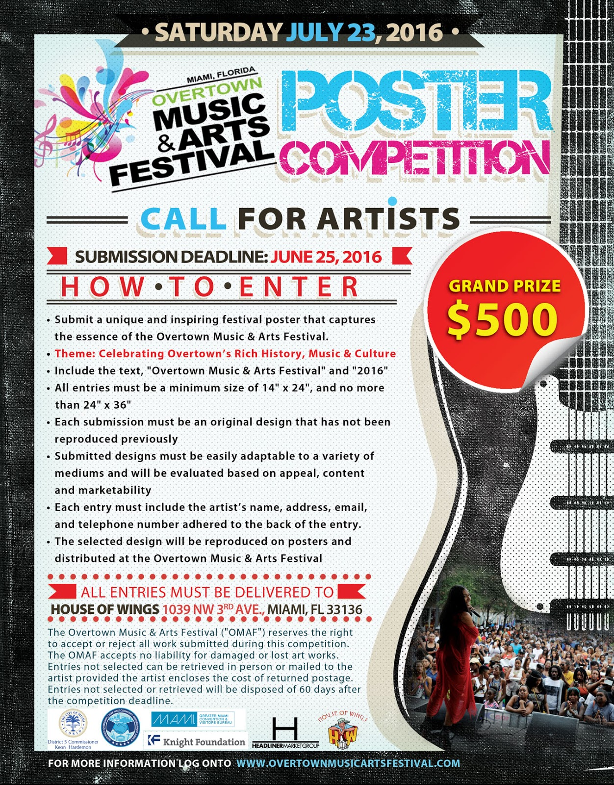 Miami Art Scene™: Call For Artists: Overtown Music & Arts Festival