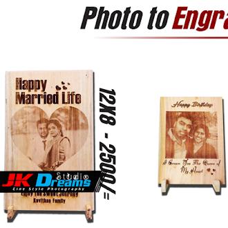 Photo to Engraving in Wood | Wood Engraving in Jaffna | Best Wood Engraving | JK Dreams
