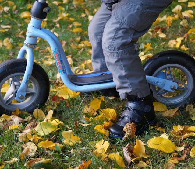 Laufrad fahren Schuhe robust