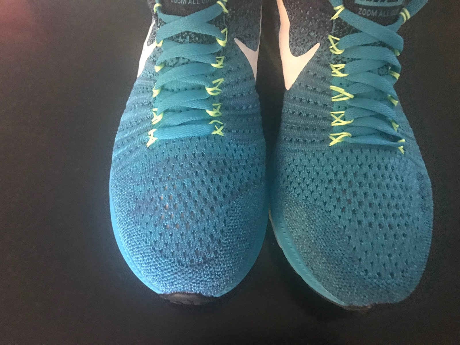 57f69522036e The upper is Nike s Flyknit with Flywire cables integrated to the laces.  They fit true to size with decent width but have relatively low volume over  the ...