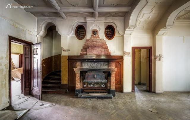 salón casa fresas mansión abandonada Sofía Bulgaria