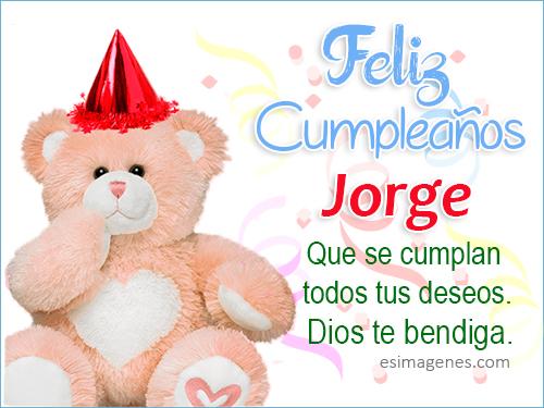 Feliz cumpleaños Jorge Tarjetas de Cumpleaños con Nombres