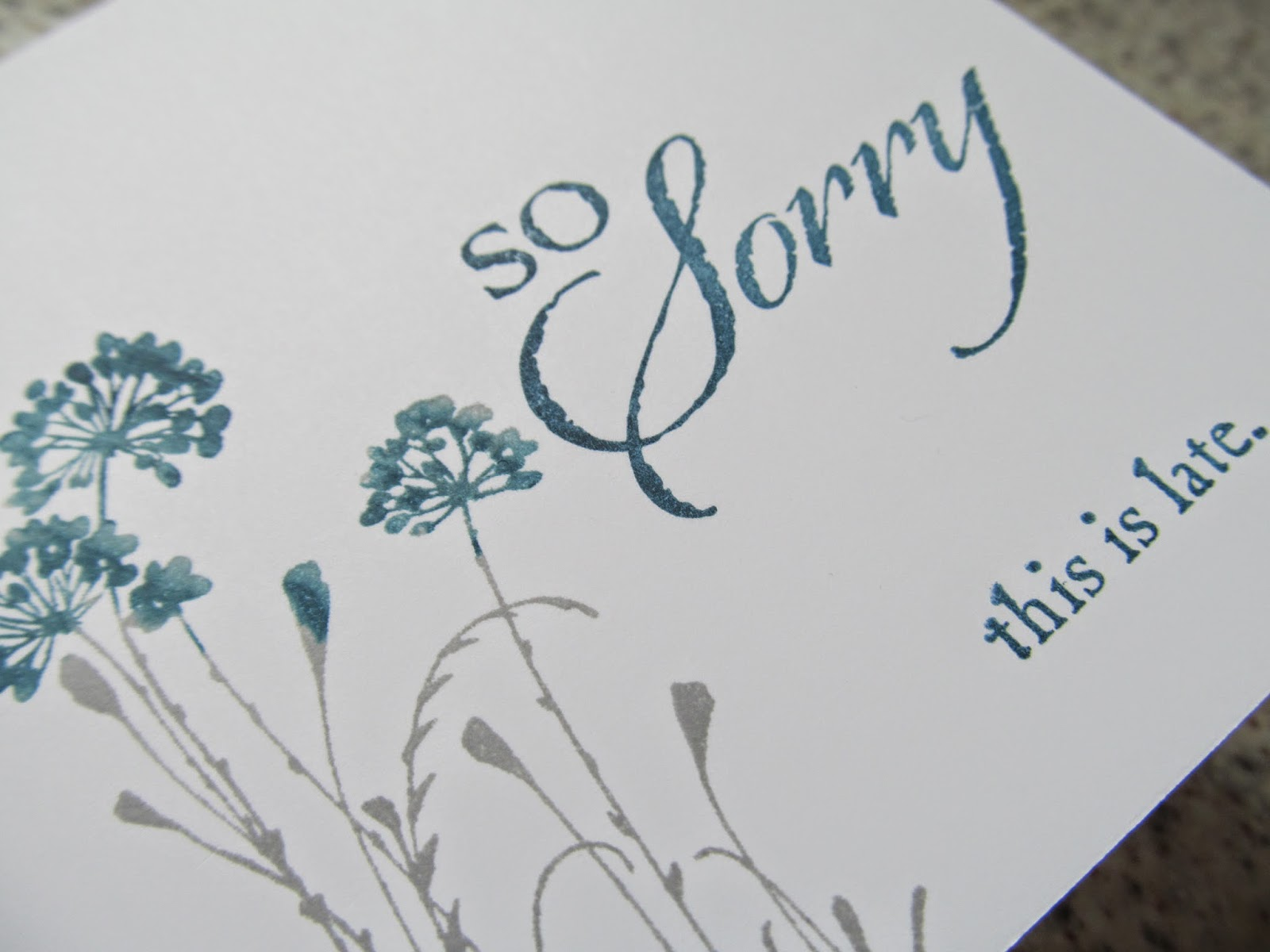 So sorry card Stampin' Up! Jemini Crafts