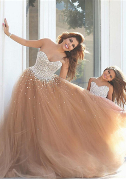 Gorgeous Sweetheart Beadings Prom Dresses 2019 Tulle Mother and Daughter Dress