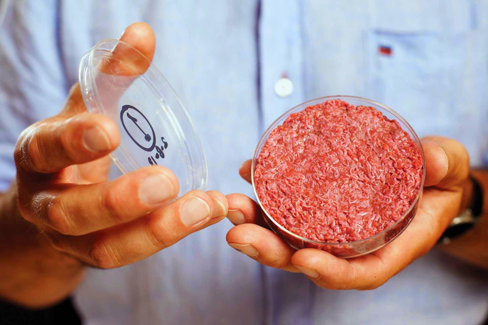 Lab-grown burger